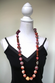 ketting roze/rood/oranje