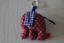 Sleutel-/tashanger olifant van global affairs, rood