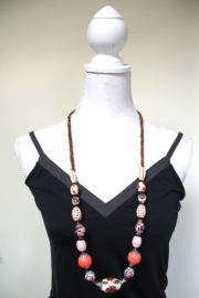 ketting roze/rood