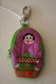 sleutelhanger/portemonneetje baboushka