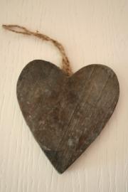 hanger hart hout, grijs