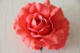 bloemcorsage zalmroze