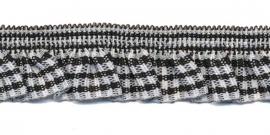 zwart-wit geruite roezel elastiek
