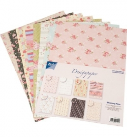 decoratief papier, Blooming Rose
