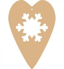 Hart met sneeuwvlok
