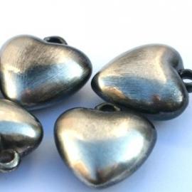 bedel hart zwart/zilver
