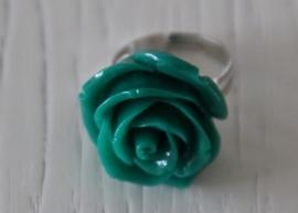 ring roosje, olijfgroen