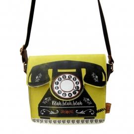 Penny black telephone mini bag