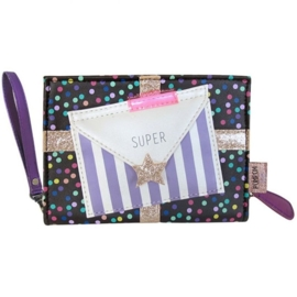 Pompom tutti spotty mini clutch