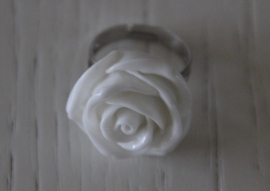 ring roosje, wit