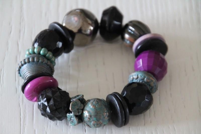 armband paars/groen