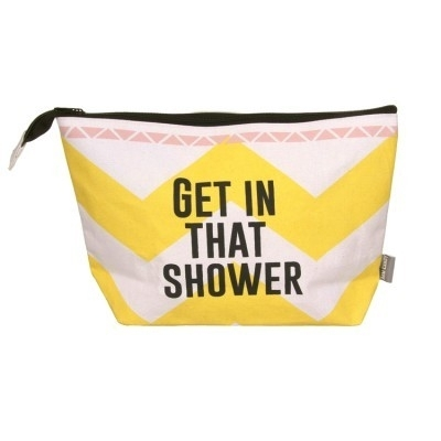 Arm candy 'Get in that shower' toilettas