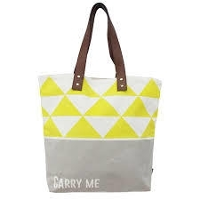 Arm candy 'carry me' tote bag