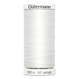 Gutermann 800 Wit | Naaigaren 500m