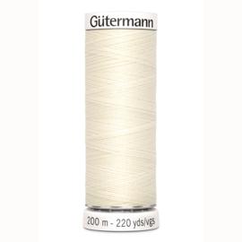 Gutermann 1 Gebroken wit | Naaigaren 200m