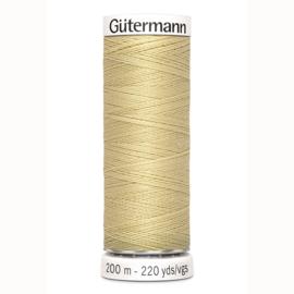 Gutermann 249 Geel beige | Naaigaren 200m