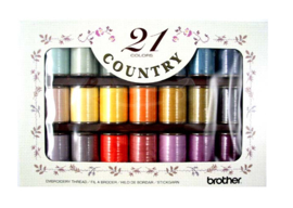 BROTHER Country Borduurgarenset 21 kleuren | CYT21