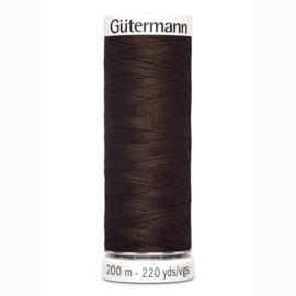 Gutermann 406 Donker bruin | Naaigaren 200m