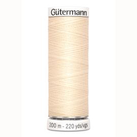 Gutermann 414 Ecru | Naaigaren 200m