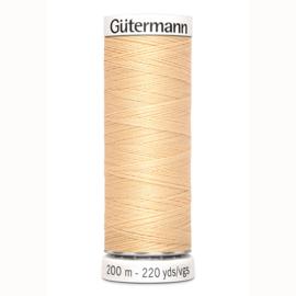 Gutermann 6 Donker ecru | Naaigaren 200m