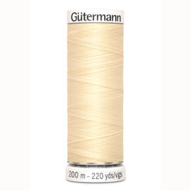 Gutermann 610 Licht geel  | Naaigaren 200m