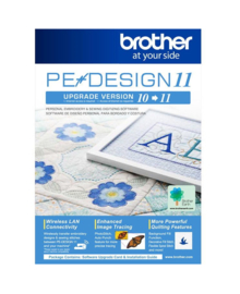 BROTHER UPGRADE PE DESIGN 10 naar PE DESIGN 11 | UGKPED11