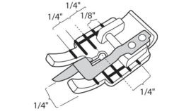 HUSQVARNA Transparante Patchworkvoet 6mm met geleider in het midden