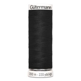 Gutermann 000 Zwart | Naaigaren 200m