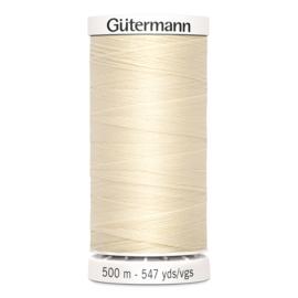 Gutermann 414 Ecru | Naaigaren 500m