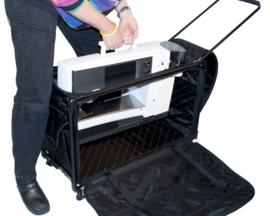 TUTTO Trolley voor naaimachine XL Extra Large Zwart