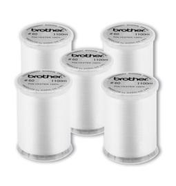 BROTHER Ondergaren Wit 5 stuks / Borduurondergaren / Spoelgaren | EBTCEN