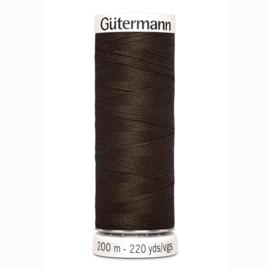 Gutermann 21 Donker bruin | Naaigaren 200m
