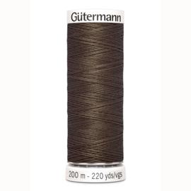 Gutermann 252 Donker bruin | Naaigaren 200m