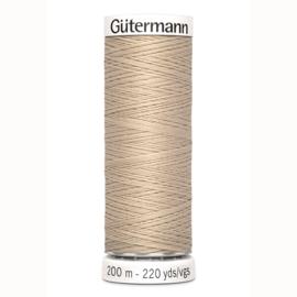 Gutermann 198 Licht beige | Naaigaren 200m