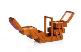 PRYM Naaibox hout met stof medium