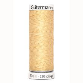 Gutermann 3 Licht geel  | Naaigaren 200m