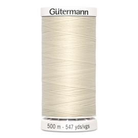 Gutermann 802 Ecru | Naaigaren 500m