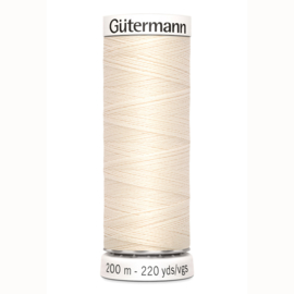 Gutermann 802 Ecru | Naaigaren 200m