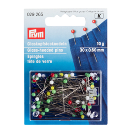 PRYM Glaskopspelden 30 x 0,60 mm | 10 gram