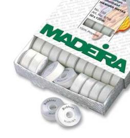 MADEIRA Bobbins Spoelgaren Wit 50x120m