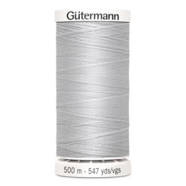 Gutermann 8 Zilver grijs | Naaigaren 500m