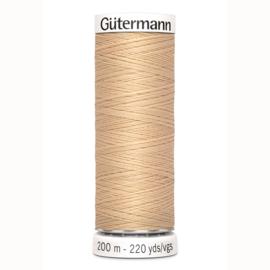 Gutermann 421 Licht beige | Naaigaren 200m