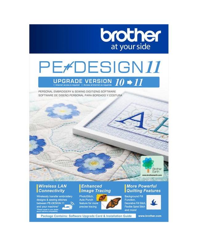 BROTHER UPGRADE PE DESIGN 10 naar PE DESIGN 11 | UGKPED11