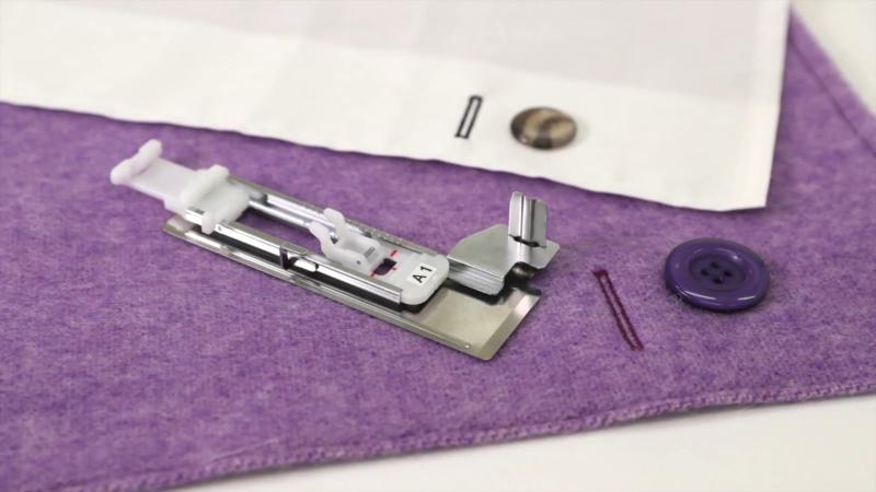 BROTHER Knoopsgatvoet met metalen stabilisator A1 | F083