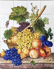 Wandtegeltableau Fruta (vruchten) (20 x 14x14cm)