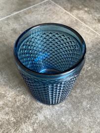 Waterglas blauw (Diamond - bicos) / Vista Alegre