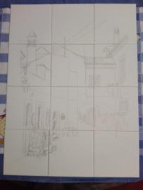 Wandtegeltableau Tavira (12 x 15x15cm)