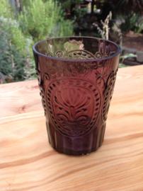 Waterglas Fleur de Lys donkerpaars L