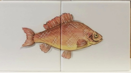 Wandtegeltableau Pargo / serie visjes (2 x 15x15cm)
