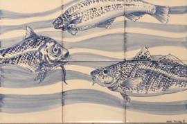 Wandtegeltableau Peniche (6 x 15x15cm)